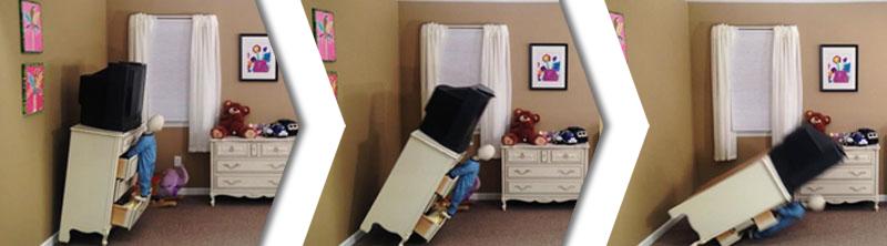 Dresser falling